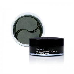 Гидрогелевые патчи с протеинами шёлка и углём JMsolution Black Cocoon Home Esthetic Eye Patch 60 шт