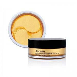 Гидрогелевые патчи с шёлком и золотом JMsolution Golden Cocoon Home Esthetic Eye Patch 60 шт