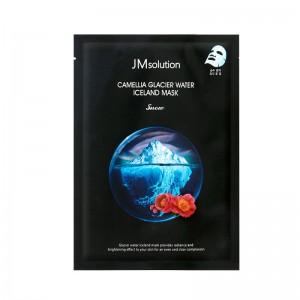 Тканевая целлюлозная тонизирующая маска JM Solution Camellia Glacier Water Iceland Mask Snow 30 мл