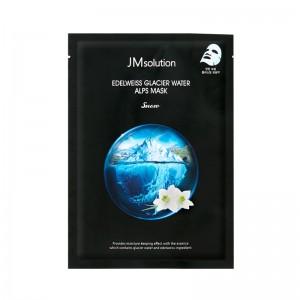 Тканевая целлюлозная маска с эдельвейсом JM Solution Edelweiss Glacier Water Alps Mask Snow 30 мл