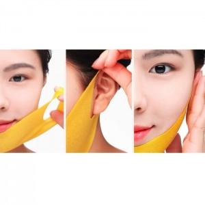 Лифтинг-маска для подбородка с прополисом JM Solution Honey Luminous Royal Propolis Lift-Up V Mask Black 1 шт