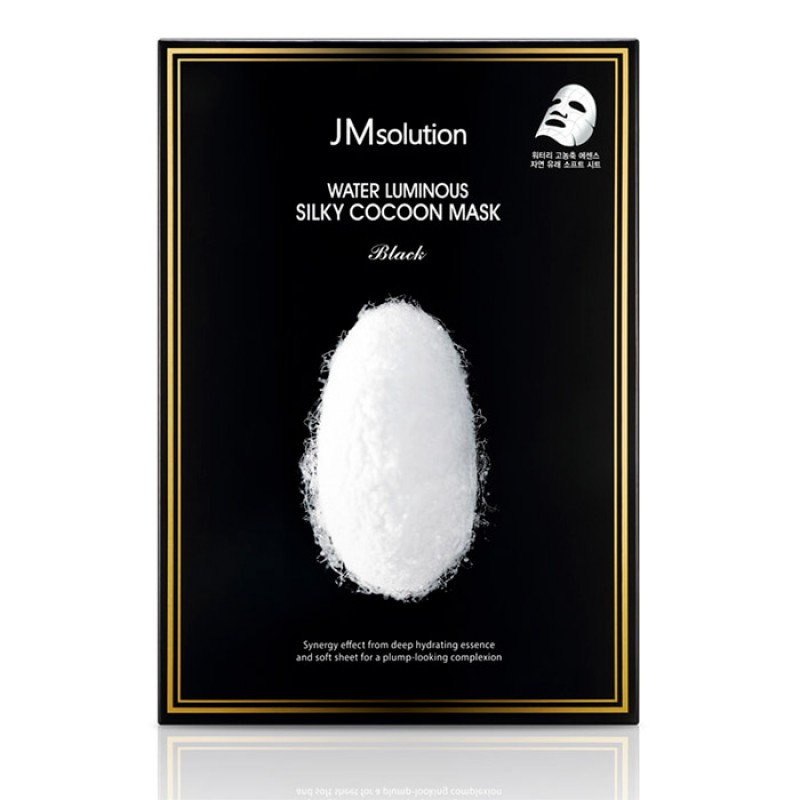 Маска для упругости кожи JM Solution Water Luminous Silky Cocoon Mask Black - 35 мл