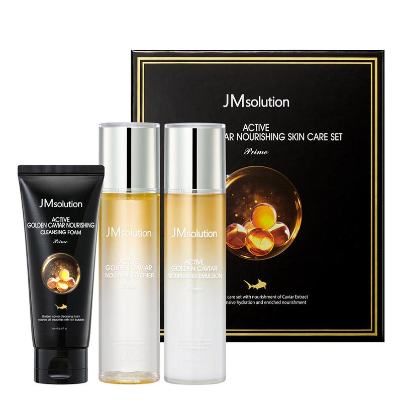 Набор для питания с золотом и икрой JMsolution Active Golden Caviar Nourishing Skin Care Set Prime