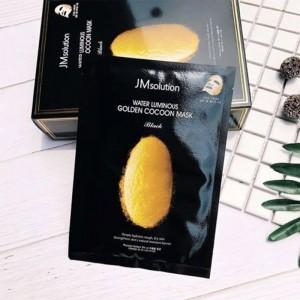 Тканевая маска с протеинами кокона шелкопряда JM Solution Water Luminous Golden Cocoon Mask Black 45 мл