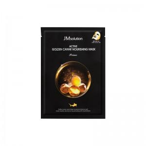 Ультратонкая тканевая маска с золотом и икрой JMsolution Active Golden Caviar Nourishing Mask Prime 33 мл