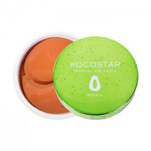 Гидрогелевые патчи для глаз с папайей KOCOSTAR Tropical Eye Patch Papaya - 30 пар
