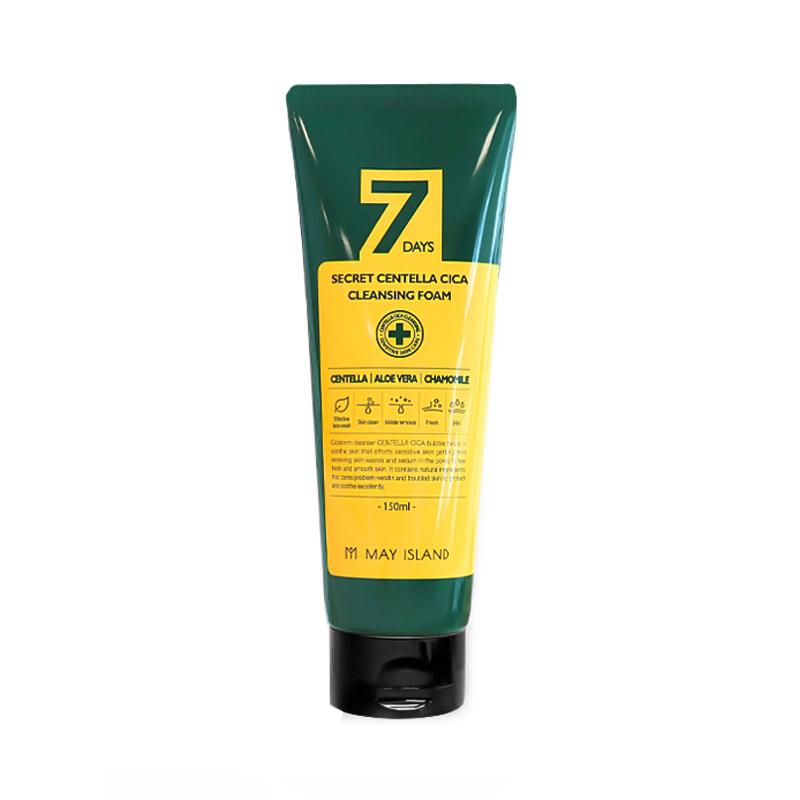 Пенка для проблемной кожи с центеллой MAY ISLAND 7 Days Secret Centella Cica Cleansing Foam 150 мл