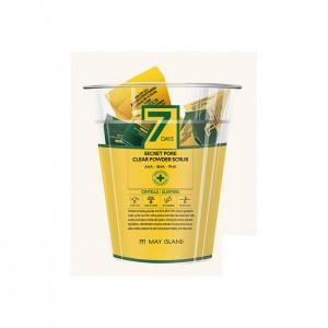 Скраб для очищения пор с центеллой MAY ISLAND 7 Days Secret Pore Clear Powder Scrub - 1 шт/12 шт