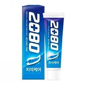 Отбеливающая зубная паста Dental Clinic 2080 Advance Blue Toothpaste Scrub Essence - 120 мл