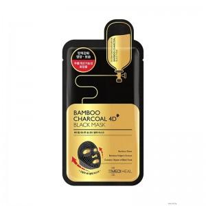 Тканевая маска для лица MEDIHEAL Bamboo Charcoal 4D Black Mask 25мл