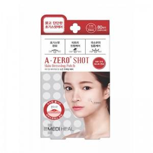 Патчи точечные от прыщей невскрывшихся MEDIHEAL A-zero Shot Skin Dressing Spot Patch 80 шт
