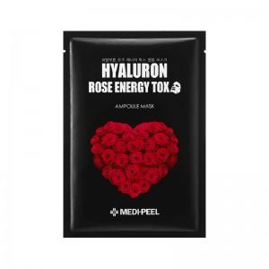 Ампульная омолаживающая маска с розой MEDI-PEEL Hyaluron 100 Rose Energy Tox 30мл