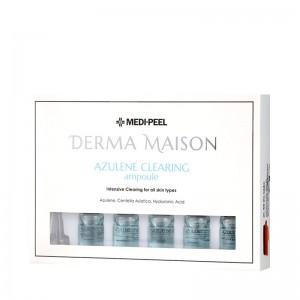 Концентрированные ампулы с азуленом MEDI-PEEL Derma Maison Azulene Clearing Ampoule 7мл*10шт
