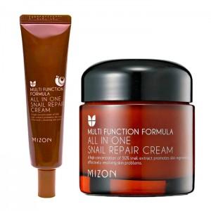 Крем с муцином улитки для лица MIZON All In One Snail Repair Cream - 35/75 мл
