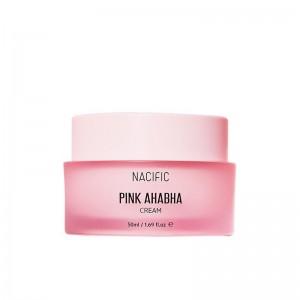 Увлажняющий крем для лица с кислотами NACIFIC Pink AHA BHA Cream 50 мл