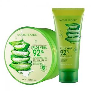 Увлажняющий гель для тела с алоэ NATURE REPUBLIC Soothing and Moisture Aloe Vera 92% Gel - 250/300 мл
