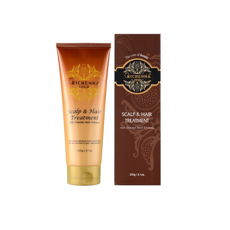 Маска для волос и кожи головы RICHENNA Gold Henna Clinic Scalpe Hair Treatment 230 мл