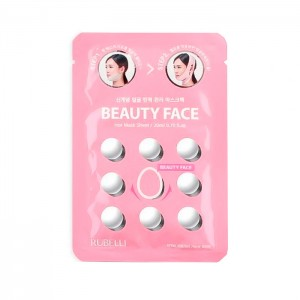 Сменная маска для подтяжки контура лица RUBELLI Beauty Face Hot Mask Sheet - 20 мл