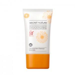 Нехимический солнцезащитный крем с календулой SECRET NATURE SPF50+/PA++++ Calendula Non-Chemical Sunscreen - 50 мл