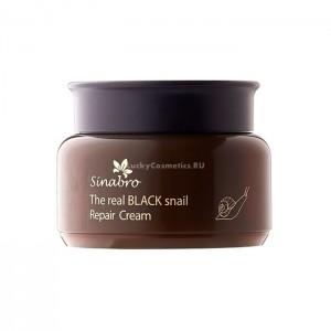 Восстанавливающий крем для лица SINABRO The Real Black Snail Repair Cream - 100 мл