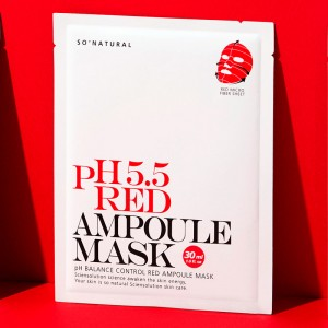 Слабокислотная восстанавливающая маска SO NATURAL 5.5 Red Ampoule Mask - 30 мл