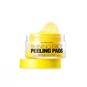Пилинг-пады с витамином С SO NATURAL Shining Face Peeling Pads - 80 шт