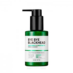 Маска-пенка от черных точек SOME BY MI Bye Bye Blackhead 30 Days Miracle Green Tea Tox Bubble Cleanser - 120 мл