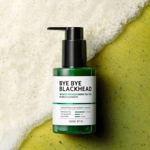 Маска-пенка от черных точек SOME BY MI Bye Bye Blackhead 30 Days Miracle Green Tea Tox Bubble Cleanser - 120 мл
