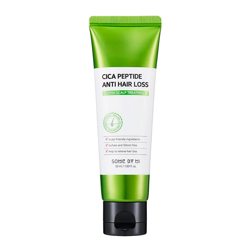 Укрепляющая маска для волос с центеллой SOME BY MI Cica Peptide Anti Hair Loss Treatment 50 мл