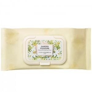 Очищающие салфетки с ромашкой THE SAEM Garden Pleasure Chamomile Cleansing Tissue - 100 шт