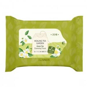 Очищающие салфетки THE SAEM Healing Tea Garden Green Tea Cleansing Tissue - 20 шт