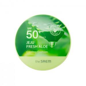Кушон охлаждающий с алоэ THE SAEM Jeju Fresh Aloe Cooling Cushion SPF50+ PA+++ - 12 гр