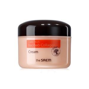 Крем с коллагеном и баобабом THE SAEM Care Plus Baobab Collagen Cream - 100 мл