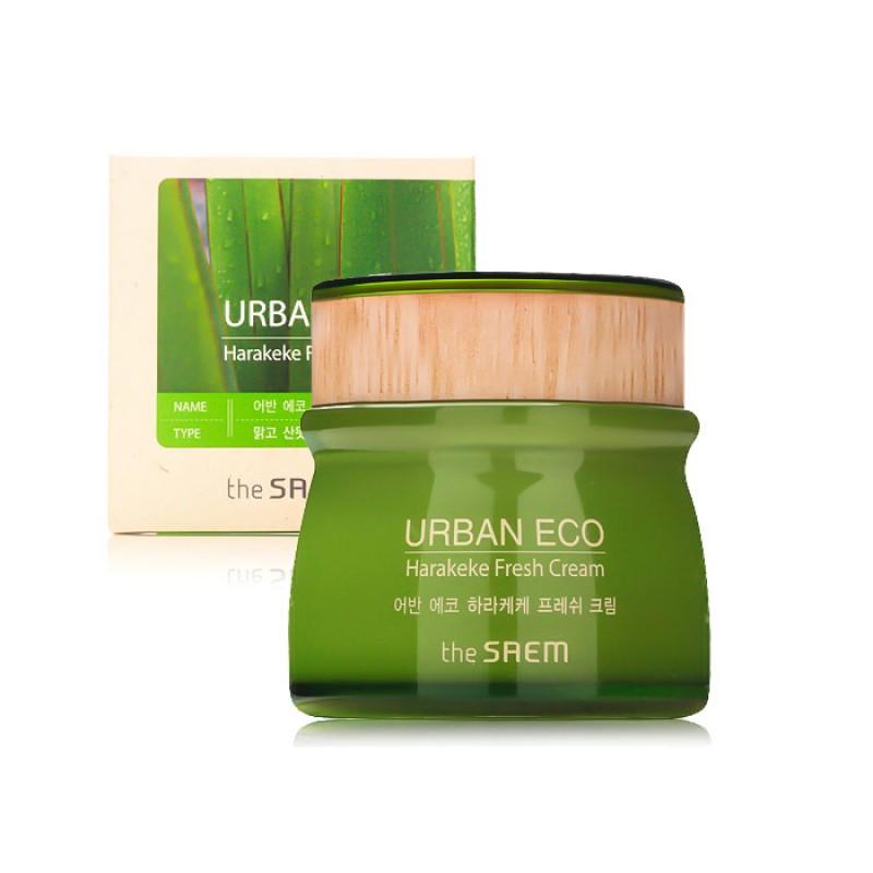 Освежающий крем с экстрактом новозеландского льна THE SAEM Urban Eco Harakeke Fresh Cream - 60 мл.
