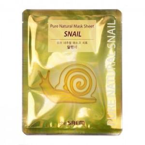 Тканевая маска с муцином улитки THE SAEM Pure Natural Mask Sheet Snail - 20 мл