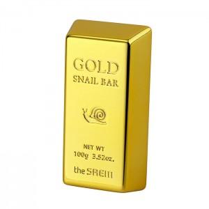 Мыло для умывания с золотом THE SAEM Gold Snail Bar - 100 гр