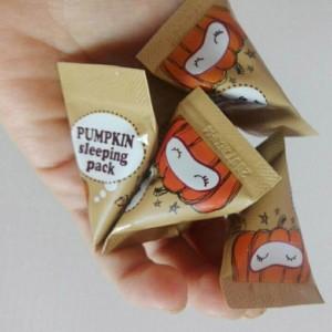 Ночная маска с тыквой и керамидами TOO COOL FOR SCHOOL Pumpkin Sleeping Pack 2 мл