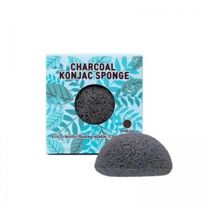 Спонж конняку с древесным углем TRIMAY Charcoal Konjac Sponge 1 шт