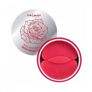 Осветляющие гидрогелевые патчи с вином TRIMAY Rose Wine Brilliant Brightening Eye Patch - 90 шт