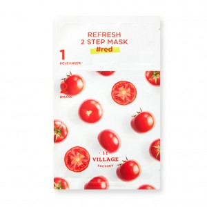 Двухступенчатая восстанавливающая маска VILLAGE 11 FACTORY Refresh 2 Step Mask Red - 3+25 мл
