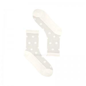 Женские носки VIVID COLOR Капроновые горошки - 1 пара