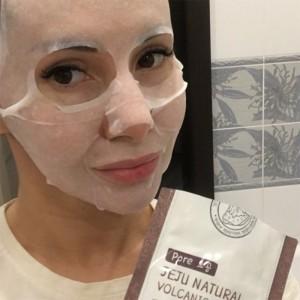 Тканевая маска для лица WELCOS Jeju Natural Volcanic Mask - 20 мл