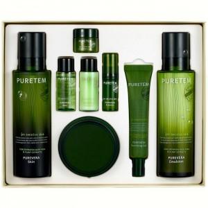 Набор для чувствительной кожи лица с алоэ WELCOS Puretem Purevera 3 Items Set