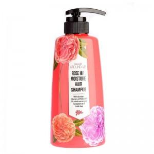 Шампунь для волос с розой WELCOS Around me Rose Hip Hair Shampoo 500 мл