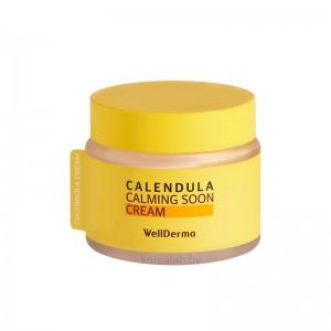 Успокаивающий двухфазный крем с календулой WELLDERMA Calendula Calming Soon Cream 80 мл