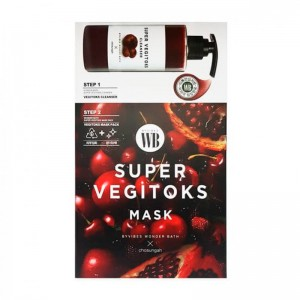 Осветляющая 2-х ступенчатая детокс-система WONDER BATH Super Vegitoks Mask Red 3мл+25мл