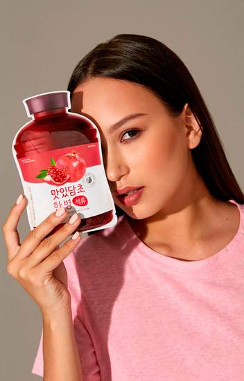 Тканевая маска с гранатом A'PIEU Fruit Vinegar Sheet Mask Pomegranate