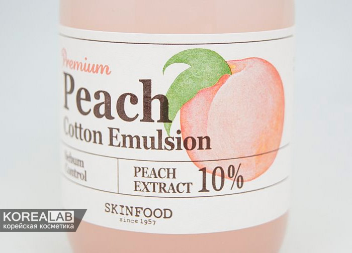 Эмульсия для лица с контролем жирности SKINFOOD Premium Peach Cotton Emulsion