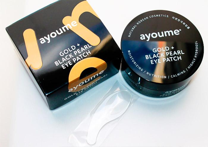 Гидрогелевые патчи от темных кругов AYOUME Gold Black Pearl Eye Patch