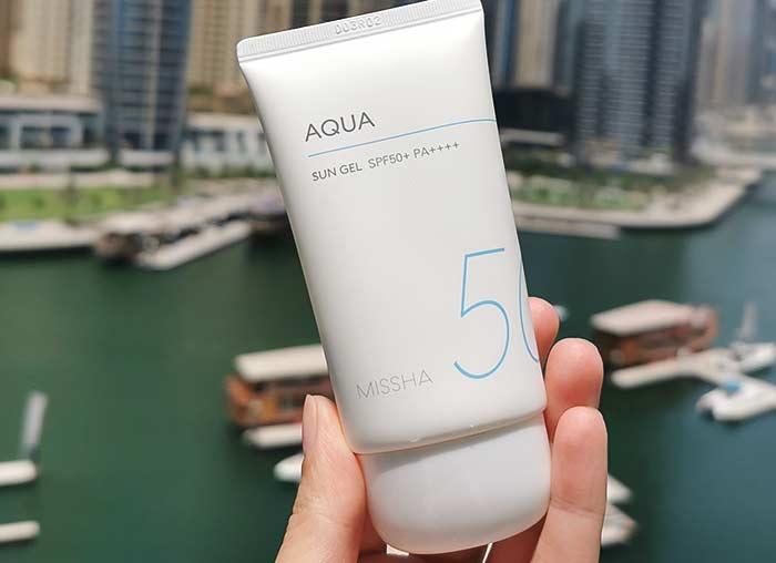 Солнцезащитный гель для лица и тела MISSHA All Around Safe Block Aqua Sun Gel SPF50 PA++++ - 50 мл